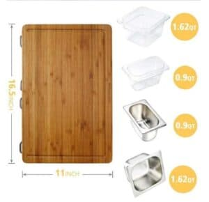 the best cutting board with containers